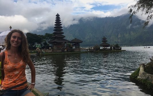 At Pura Ulun Danu Bratan in Bali in 11 Days