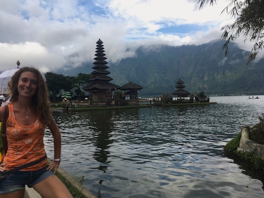 At Pura Ulun Danu Bratan in Bali in 11 Days
