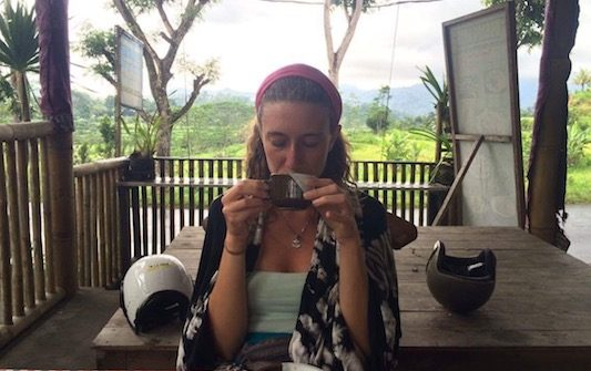 having a Bali coffee in Muncan and wondering what to eat in Bali