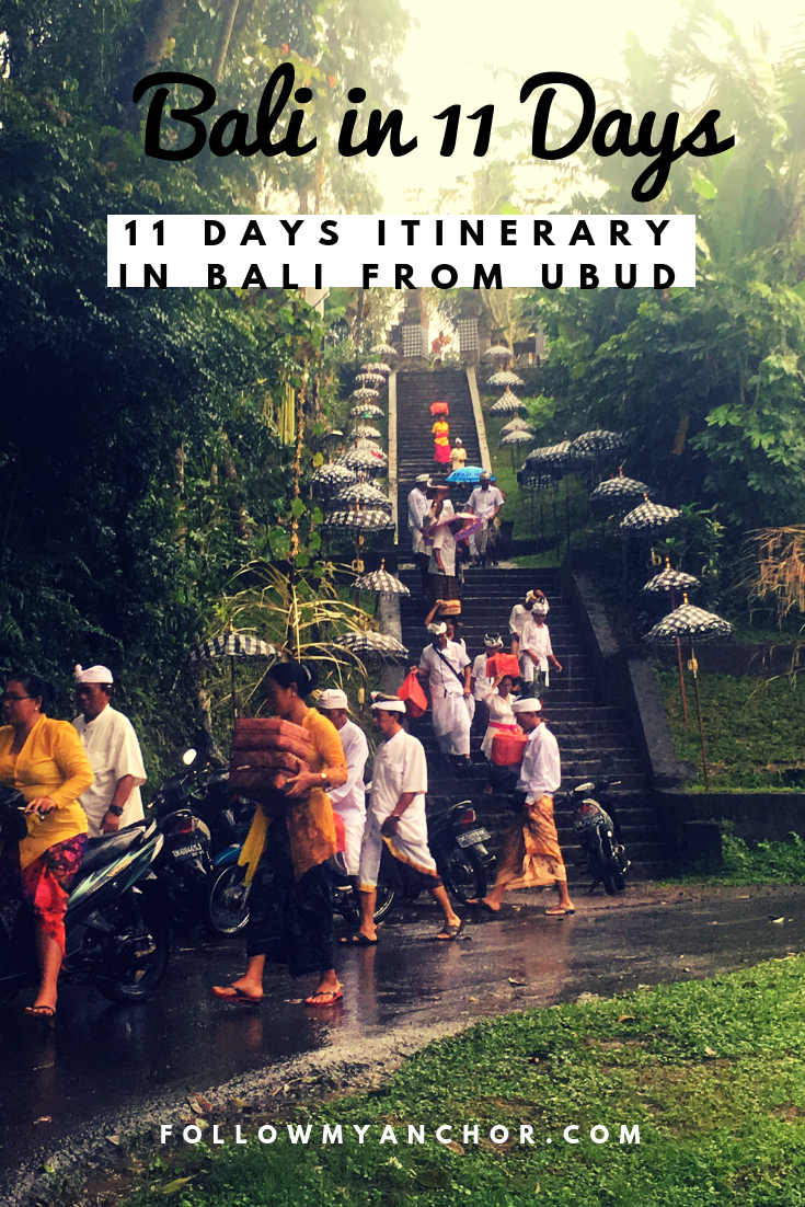 Things to do in Bali | Temples, beaches, monkey forests, waterfalls and a unique culture to discover in Bali, the holy island of Indonesia. Check out this article to get some inspiration for your 11 days itinerary in Bali starting from Ubud. #TravelToBali #BaliIn11Days #Bali #TravelBlog #ThingsToDoInBali