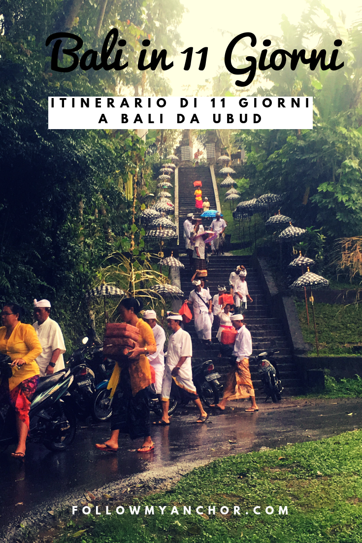 Bali in 11 Giorni | Templi, spiagge, foreste di scimmie, cascate e una cultura unica da scoprire. Leggi questo articolo per avere dei suggerimenti per il tuo itinerario di 11 giorni a Bali. #ViaggioABali #BaliIn11Giorni #Bali #TravelBlog #CoseDaFareABali