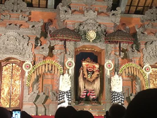 the Barong dance at the Ubud Palace