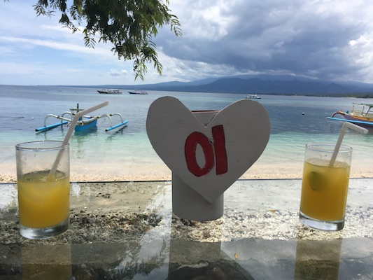 welcome drink in Gili Air
