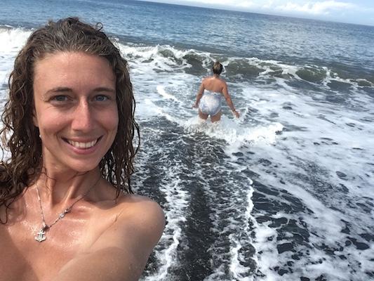 selfie alla spiaggia Pantai