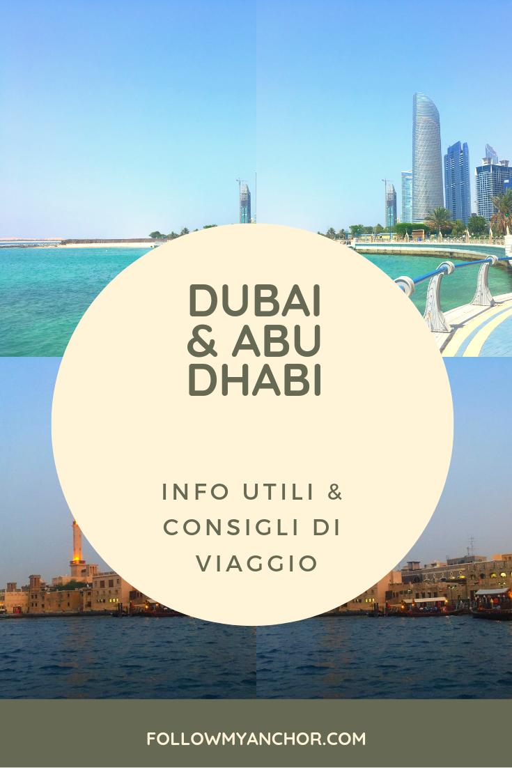Consigli di Viaggio per Dubai & Abu Dhabi | Stai organizzando un itinerario per il tuo prossimo viaggio a Dubai e Abu Dhabi? Dai un'occhiata al mio articolo per leggere alcune informazioni utili e scoprire quando andare, dove alloggiare, come andare ad Abu Dhabi da Dubai e viceversa, come spostarsi, quali sono le regole da rispettare negli Emirati Arabi Uniti e altri consigli di viaggio per la tua prossima vacanza a Dubai e Abu Dhabi. #Dubai #AbuDhabi #DubaiInfo #AbuDhabiInfo #TravelBlog