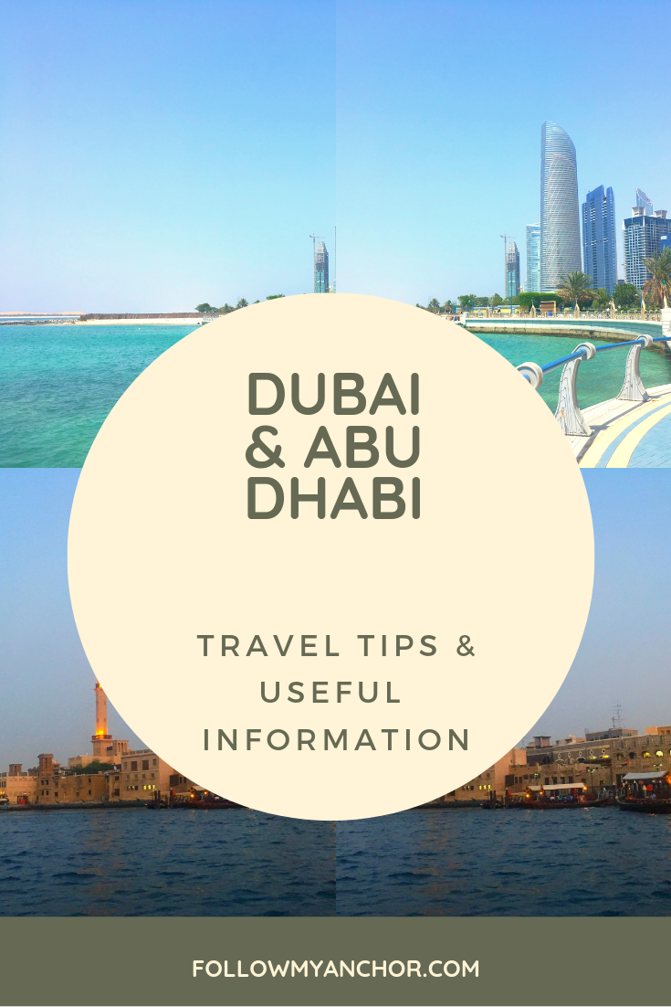 Dubai & Abu Dhabi Travel Tips | Planning an itinerary for your next trip to Dubai and Abu Dhabi? Check out my article for some useful information and to find out when to go, where to stay, how to go from Dubai to Abu Dhabi and the other way around, how to get around, general rules to follow in the United Arab Emirates and more travel tips for your vacation in Dubai and Abu Dhabi. #Dubai #AbuDhabi #DubaiTravelTips #AbuDhabiTravelTips #DubaiInfo #AbuDhabiInfo #TravelBlog
