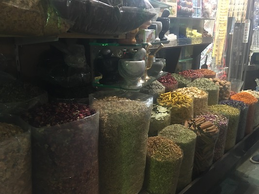 Spices at the spice souk of Deira in Dubai