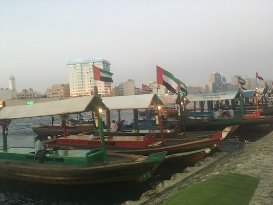Abra docked in Dubai Creek