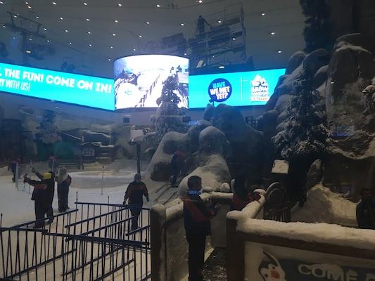 Ski slope inside the Mall of the Emirates in Dubai