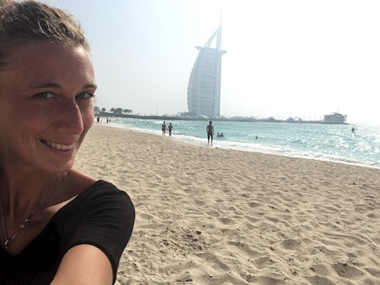 Selfie with the sail of Dubai in one day