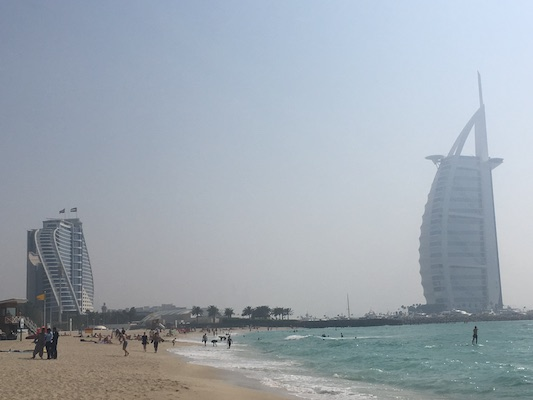 The Sail of the Burj Al Arab Hotel from Umm Suqeim Beach in Dubai