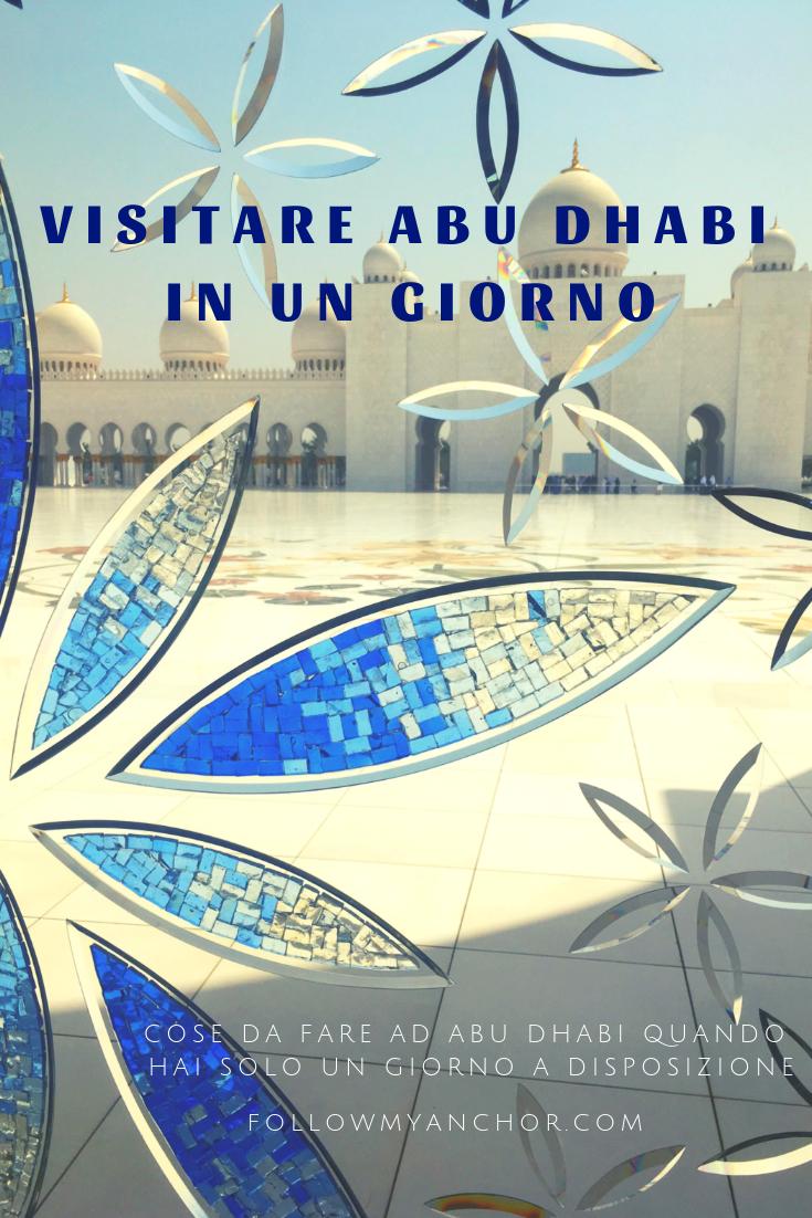 Cose da fare ad Abu Dhabi in Un Giorno | La meravigliosa moschea bianca di Abu Dhabi, costruzioni di lusso, passeggiata lungo la spiaggia. Se stai per partire per un viaggio ad Abu Dhabi, dai un\'occhiata al mio articolo per scoprire cosa fare ad Abu Dhabi in un giorno. #AbuDhabi #CoseDaFareAdAbuDhabi #AbuDhabiInUnGiorno #ViaggioAdAbuDhabi #TravelBlog