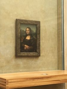 Painting of Mona Lisa in Louvre