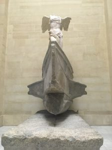 Statue of Nike of Samothrace in Louvre