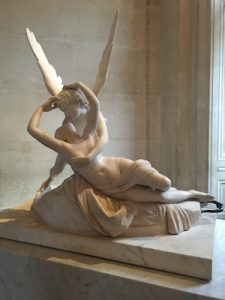 Statue of Psyche Revived by Cupid's Kiss in Louvre