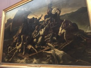 Painting of the raft of Medusa in Louvre