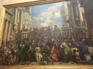Painting of the Wedding Feast at Cana in Louvre