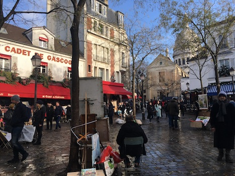 Painters in Place du Tertre in Montamartre