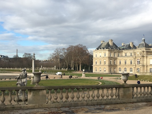 Luxembourg Garden in the Latin Quarter of Paris