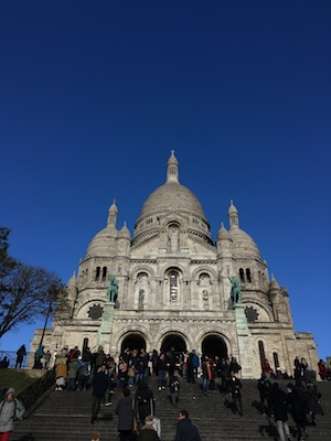 Stairs to the Sacre Coeur in Montmartre
