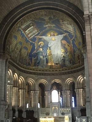 Mosaico del Sacro Cuore di Gesù nell'abside del Sacre Coeur