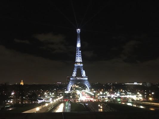 Panorama sulla Tour Eiffel dal Trocadero di Parigi