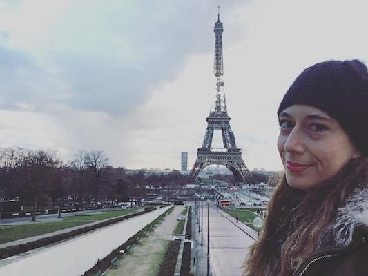 Selfie con la Tour Eiffel nel mio viaggio a Parigi