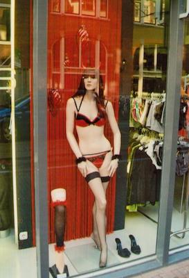 A shop at the Red Light District of Amsterdam