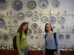 Us in a Pottery Store in Delft