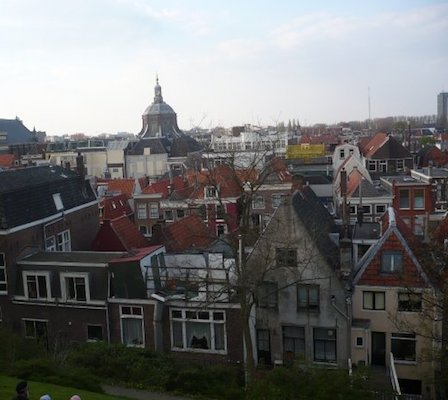View of Leiden from the Burcht Fortress