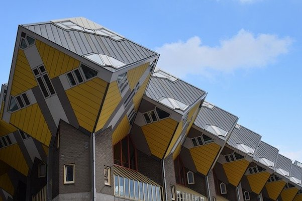 Cubic Houses in the Blaak District of Rotterdam