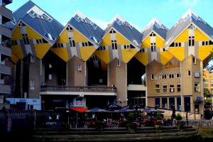 Cubic Houses in the Black District of Rotterdam