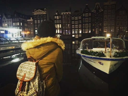 Io e i canali nel mio Viaggio a Amsterdam