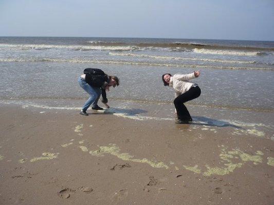 Touching the Northern Sea in Zandvoort Aan Zee