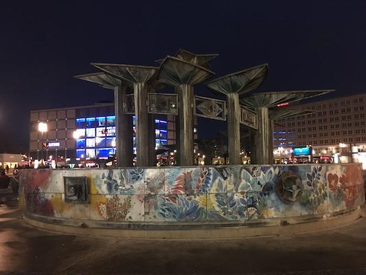 Friendship Fountain in Alexanderplatz