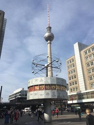 Clock of the World in Alexanderplatz in Berlin