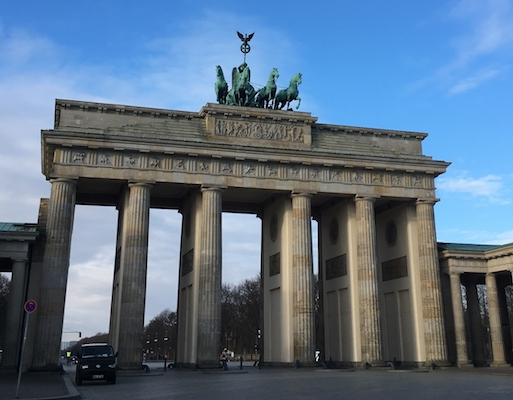 View of the Brandenburg Gate of Berlin
