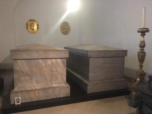 The tombs of Frederick I and Sophia Charlotte in the Hohenzollern Crypt in the Cathedral of Berlin