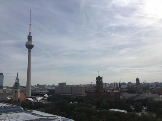 View from the Dome of the Cathedral of Berlin towards Alexanderplatz