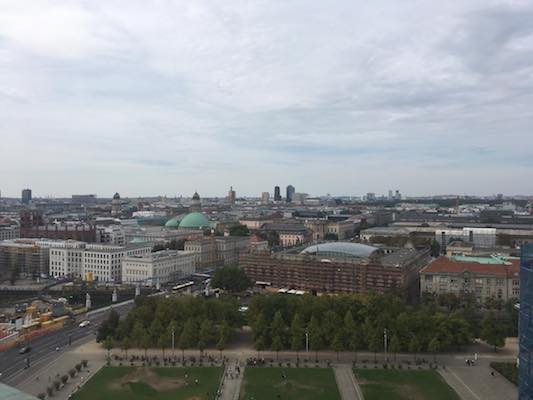 View from the Dome of the Cathedral of Berlin towards Bebel Platz