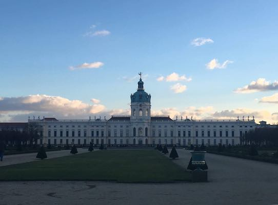 The castle of Charlottenburg in Berlin and its park