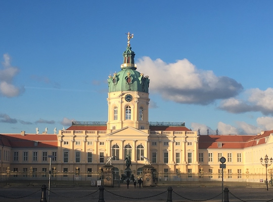 Entrance of Charlottenburg Palace in Berlin