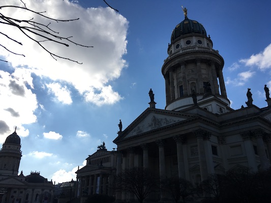 French Dome and German Dome in Gendarmenmarkt of Berlin