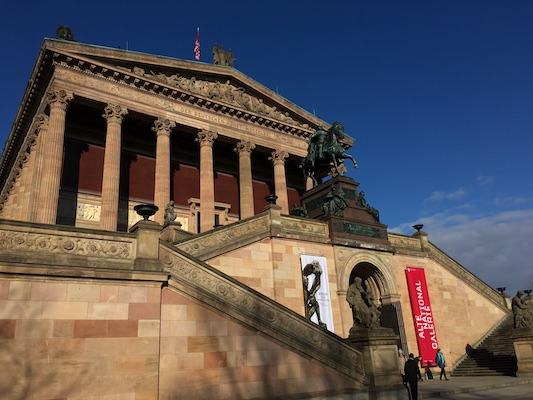 Alte National Galerie on the Museum Island of Berlin