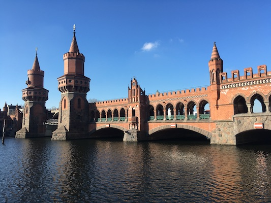 View of the Oberbaumbrucke Bridge of Berlin