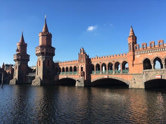 View of the Oberbaumbrucke Bridge of Berlin