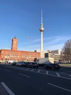 View of the Rotes Rathaus of Berlin
