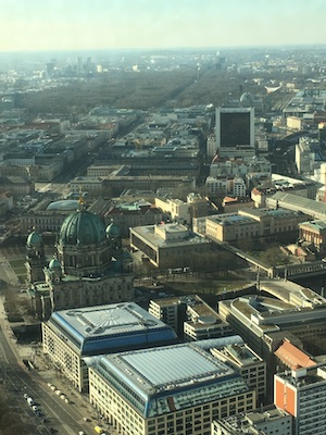 View over Unter den Linden from the Television Tower of Berlin