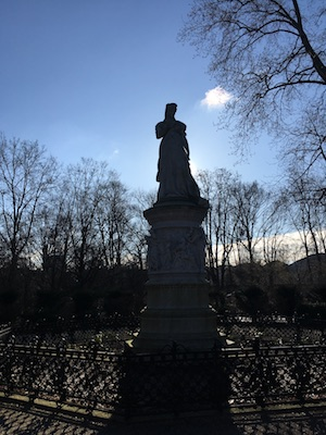 Statue in the Tiergarten of Berlin