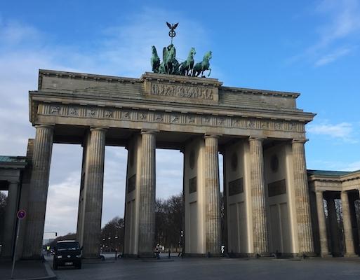 Panorama sulla Porta di Brandeburgo di Berlino